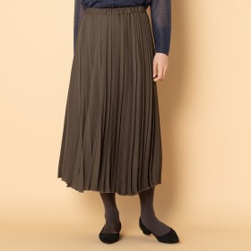 HELIOPOLE(エリオポール)/サテンアコーディオンプリーツスカート
