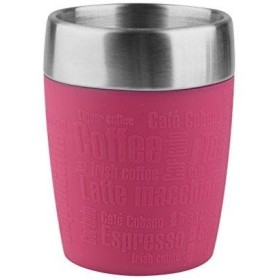 (Raspberry) - Emsa 514517 Travel Cup, insulated drinking cup with rotating closure, 200 ml, raspberry