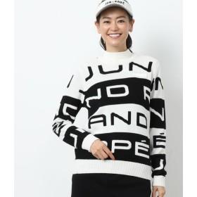 ジュン アンド ロペ/ビックロゴ配色長袖プルオーバー/ブラック/M