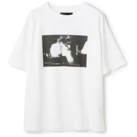 YOSHIKI SUZUKI×ESTNATION / フォトグラフィックTシャツ ホワイト/MEDIUM(エストネーション)◆メンズ Tシャツ/カットソー