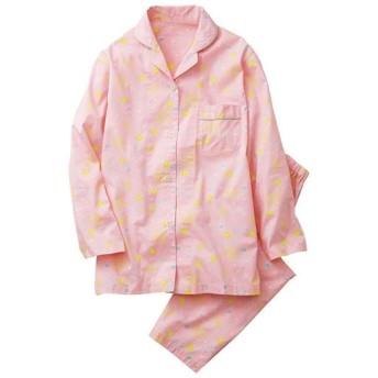 【レディース】 シャツパジャマ(綿100%) - セシール ■カラー:ソフトピンク ■サイズ:M,L,LL,3L,5L
