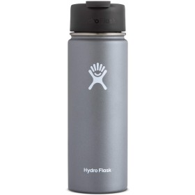 Hydro Flask 20 oz Vacuum Insulated Stainless Steel Water Bottle, Wide Mouth w/Hydro Flip Cap, Graphite by Hydro Flask