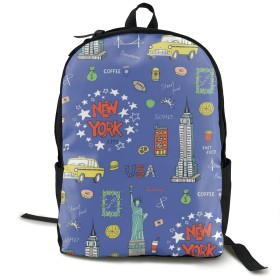 シューズ バッグ バッグ スーツケース メンズバッグ ニューヨーク スマート 自由の女神 リュックバックパック タウンリュック ビジネスリュック学生 通学 通勤 男女兼用 スクールバックパック ブラック