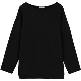 [神戸レタス] ロング Tシャツ シンプルカットソー チュニック [C3864] レディース L ノーマルブラック