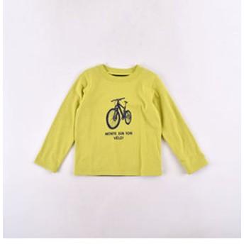 【BEBE ONLINE STORE:トップス】天竺自転車プリントリバーシブルTシャツ