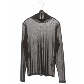 HIROKO BIS GRANDE 【洗濯機で洗える】メッシュハイネックカットソー Tシャツ・カットソー,ブラック