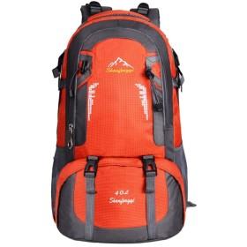 リュックサック バックパック 防災 多機能 超大容量 防水 超軽量 60L 登山リュック 背中通気 登山ザック アウトドア 旅行バッグ オレンジ