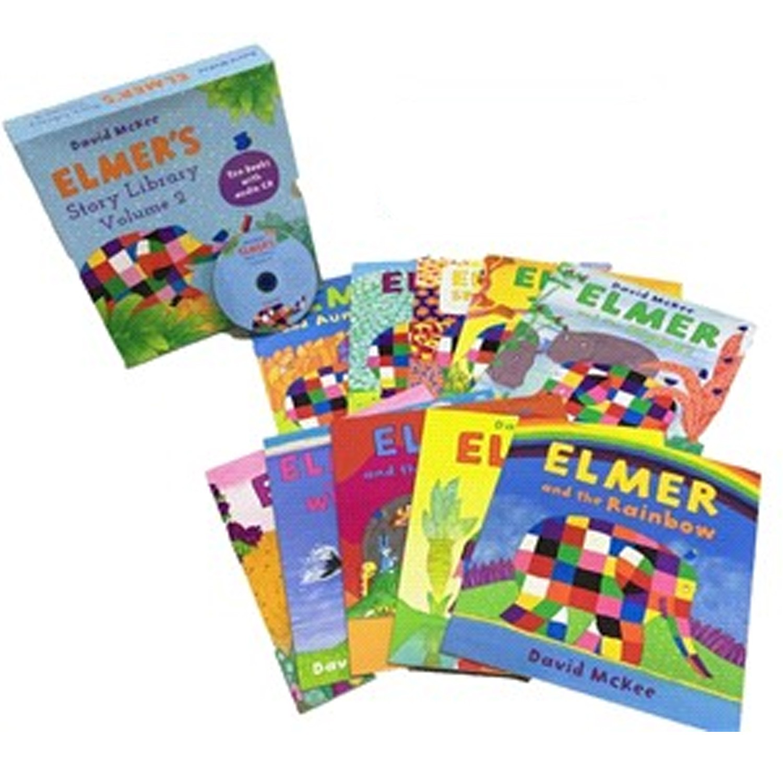 Elmer 10 Pack with Audio(10平裝+1CD)