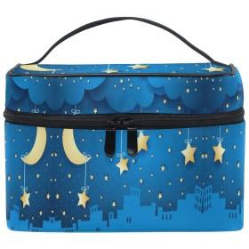 ブルームーンスター化粧品袋オーガナイザージッパー化粧バッグポーチトイレタリーケースガールレディース