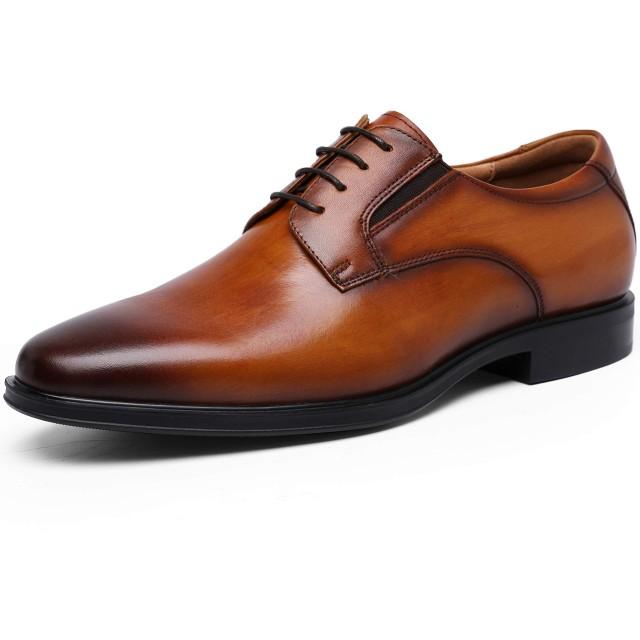 [フォクスセンス] ビジネスシューズ 本革 革靴 紳士靴 メンズ ドレスシューズ 本革 プレーントゥ 外羽根 ブラウン 27.0cm 892901-02