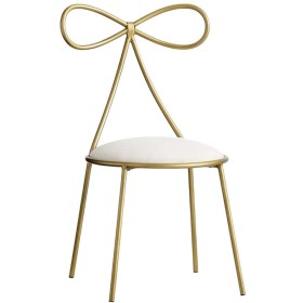北欧ダイニングチェア錬鉄クリエイティブ弓結び目背もたれ椅子革フットスツールラウンジ用寝室用リビングルームチェア