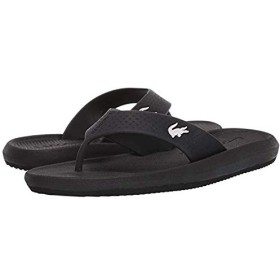 [ラコステ] レディースサンダル・靴 Croco Sandal 219 1 CFA Black/White (24cm) M [並行輸入品]