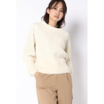 Ketty Cherie / モールヤーンフェザー裾切り替えプルオーバー