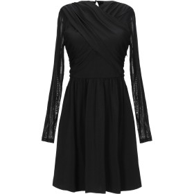 《期間限定セール開催中!》GUESS レディース ミニワンピース&ドレス ブラック XS ポリエステル 94% / ポリウレタン 6% / ナイロン