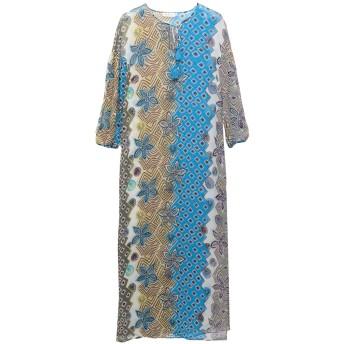 《セール開催中》TORY BURCH レディース ロングワンピース&ドレス アジュールブルー XS シルク 100%