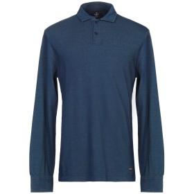 《セール開催中》HACKETT メンズ ポロシャツ ブルー L コットン 100%