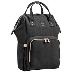 27×21×42cmミイラバッグ、大容量ハンドアウトバッグ、3色 (Color : Black)