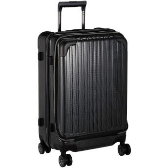 wise:ly(ワイズリー) スーツケース 超軽量双輪スーツケース フロントオープン 22インチ コーナーパッド付き TSAロック 49L 55cm 4.3kg 338-2302 18 ブラックカーボン