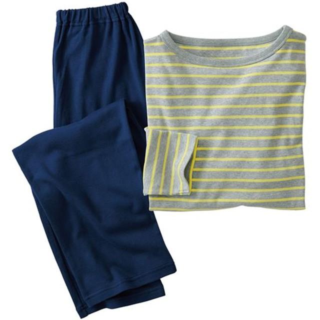 【レディース】 コットン100%のTタイプパジャマ - セシール ■カラー:イエロー系 ■サイズ:S,3L,5L