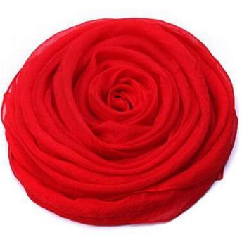 スカーフ、レディーススカーフ、ファッション春、夏と秋のショール 最高のギフトサイズ170 150 cm (Color : Red, Size : 170150cm)