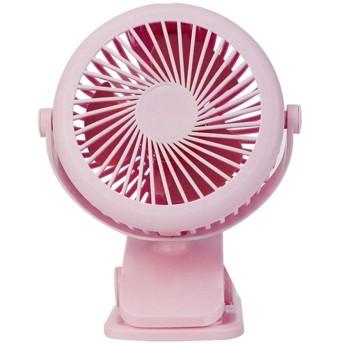 JPPFSH クリップが付いている小型携帯用無声USB充満ファンの乳母車の机の小さいファン (Color : Pink)