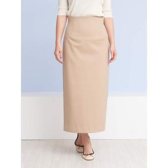 (ルージュ・ヴィフ ラクレ) Rouge vif la cle スカート バックスリットロングタイトスカート レディース ベージュ 36(S)