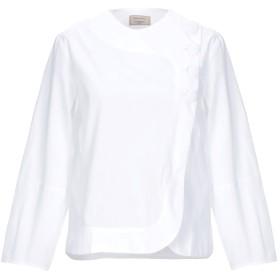 《期間限定セール開催中!》MAISON KITSUN レディース シャツ ホワイト 34 コットン 100%