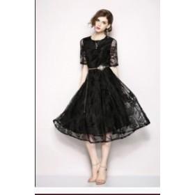 二次会 ドレス お呼ばれ 大きいサイズ 夏服 韓国風 レディース ワンピース 通勤 OL オフィス シンプル フォーマル 旅行 女性 素敵 上品