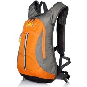 [star e business] サイクリングリュック ハイドレーションバッグ 20L 超軽量 大容量 自転車バッグ レインカバー付き スポーツリュック アウトドアバッグ トレーニング 旅行 キャンプ 登山リュック ツーリング オレンジ