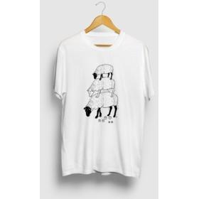 ヒツジ Summer Fashion 3段 羊 動物イラストTシャツ