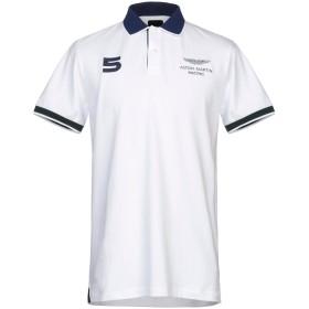 《セール開催中》ASTON MARTIN RACING by HACKETT メンズ ポロシャツ ホワイト XXL コットン 97% / ポリウレタン 3%
