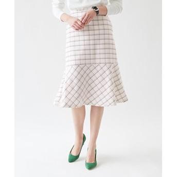 【titivate:スカート】裾フレアチェックスカート