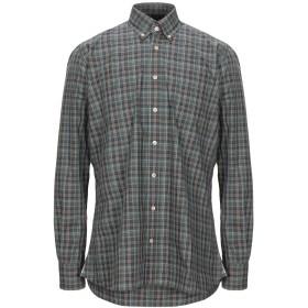 《セール開催中》HACKETT メンズ シャツ ミリタリーグリーン S コットン 100%