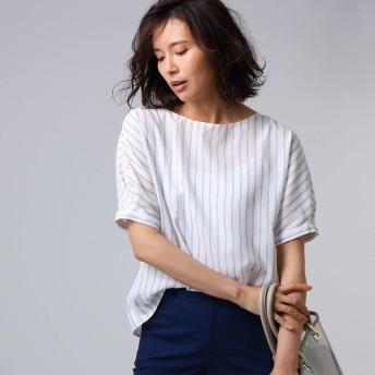 UNTITLED(アンタイトル)/[L]【洗える】クルーズストライプスクエアシャツ