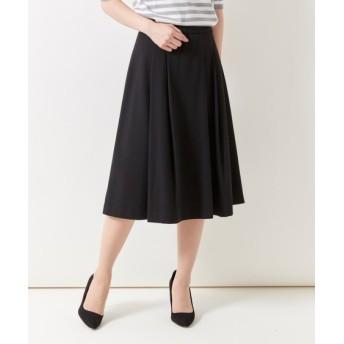 ウエスト前ゴム仕様フレアスカート (大きいサイズレディース)スカート, plus size skirts, 裙子