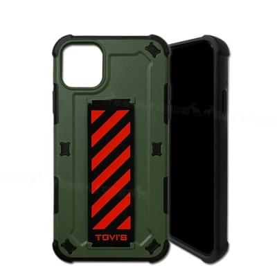 TGVi S 探尋系列 iPhone 11 Pro Max SGS軍規認證防摔手機殼(橄欖綠)