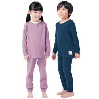 おなかが出にくい両脇ボタン付きスムース無地パジャマ【子供パジャマ】【男の子 女の子】