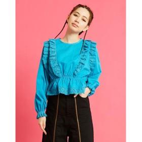 リトルサニーバイト little sunny bite lacy blouse (BLUE)