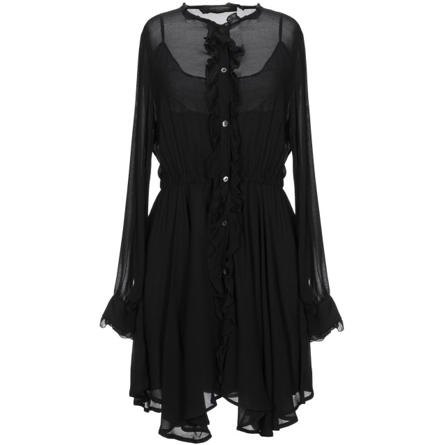 《セール開催中》MESSAGERIE レディース ミニワンピース&ドレス ブラック 38 レーヨン 100%