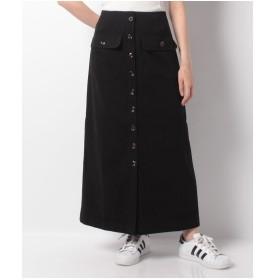 WEGO WEGO/BIGポケットロングスカート(ブラック)【返品不可商品】