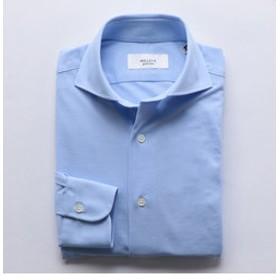 【NOLLEY'S:トップス】ハイゲージカノコ ワイドカラーシャツ