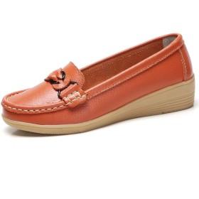 [PIRN] 歩きやすい フラット 痛くない かわいい ぺたん オレンジ 22.5cm ペタンコ フラットシューズ おしゃれ レディース 履きやすい 可愛い シンプル リボン フラットパンプス スエード プレーンパンプス 楽ちん ベーシックパンプス