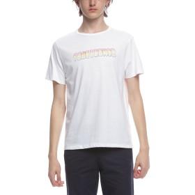 【50%OFF】ロゴプリント クルーネック 半袖Tシャツ ホワイト s