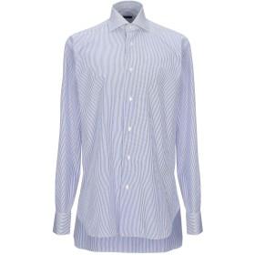 《期間限定セール開催中!》BARBA Napoli メンズ シャツ アジュールブルー 41 コットン 100%