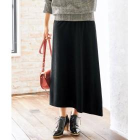 起毛カットソーアシンメトリーロング丈スカート(オトナスマイル) (大きいサイズレディース)スカート, plus size, Skirts, 裙子