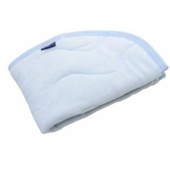 抗菌防臭 SEK加工 綿シンカーパイル 枕パッド 35×50cm ブルー 2453BL