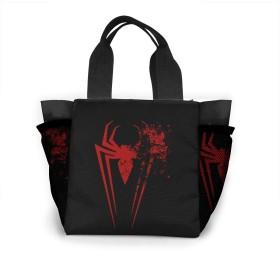 Spiderman レディース レジャーバッグ ランチバッグ 手提げ袋 ショルダーバッグ 男女兼用 大型 オフィス 通勤 通学 ビジネス 出張 ピクニック