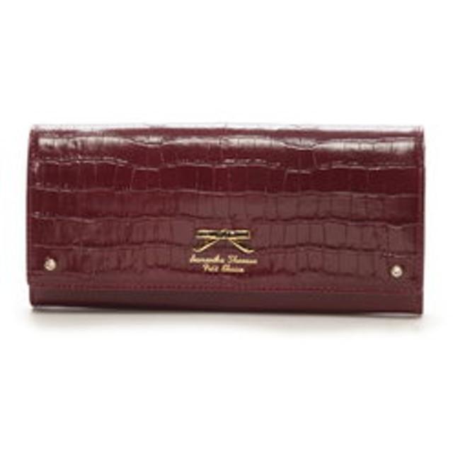 【Samantha Thavasa Petit Choice:財布/小物】クロコシンプルリボン 長財布