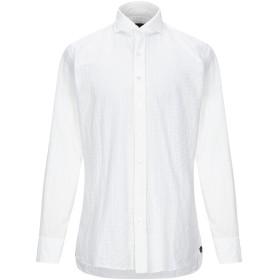 《セール開催中》LARDINI メンズ シャツ ホワイト 40 コットン 96% / ナイロン 4%