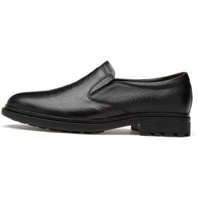 [ジョイジョイ] メンズ ドレス ビジネスシューズ パイソン柄 スリッポン 紳士靴 大きいサイズ 黒 ローカット レザー フォーマル ラウンドトゥ オックスフォード スリッポン カジュアル ウェディング フラットシューズ